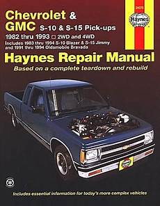 hayes car manuals 1997 oldsmobile bravada spare parts catalogs s 10 pickup blazer s 15 jimmy typhoon repair manual 1982 1993