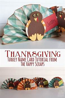 Thanksgiving Turkey Name Card Tutorial Learn How To Make