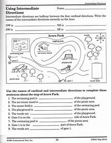 intermediate directions worksheet social studies activities geography lessons map skills