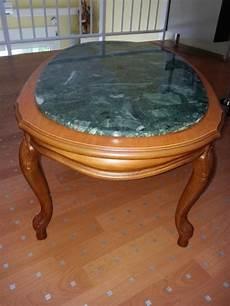 troc echange table basse merisier et marbre sur
