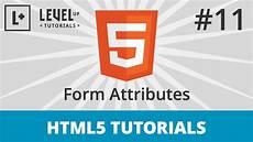 html5 tutorials 11 form attributes youtube