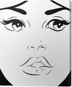 tableau visage noir et blanc tableaux sur toile dessin visage femme pixers 174 nous