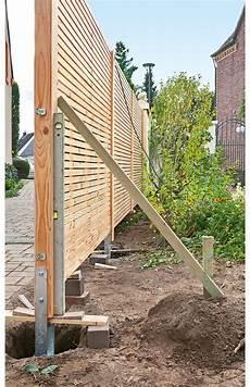 Sichtschutzzaun Holz Zaun Garten Sichtschutzzaun Holz