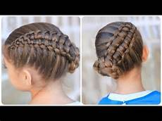 zipper braid updo cute girls hairstyles youtube