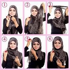 Kreasi Jilbab Modern Segi Empat Untuk Ke Kantor Model Jilbab