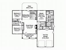 1500 sq ft bungalow house plans traditional style house plan 3 beds 2 baths 1500 sq ft