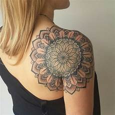 Back Of Shoulder Mandala Dotwork By Niall Shannon