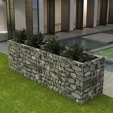 vidaxl gabion planter steel 360x90x100 cm outdoor garden