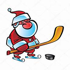 hockey santa claus sport winter stock