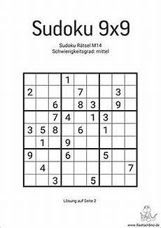 sudoku vorlagen quot mittel quot zum ausdrucken raetseldino de