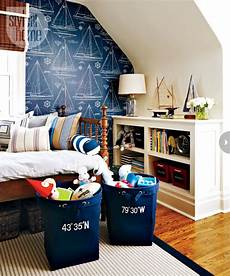 Wallpaper Boy Bedroom Ideas Pictures by Sailing Themes Wallpaper Traditional Boy S Room