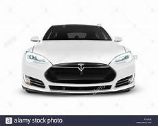 2017 tesla model s luxury electric car front view isolated