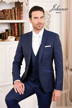 costume mariage bleu homme