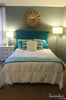 Teal Gray And White Bedroom Ideas by The Handcrafted Teal White And Grey Guest Bedroom