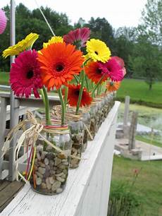 gorgeous gerbera daisies in a simple jar for a