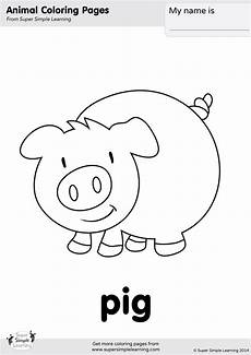 pig coloring page simple