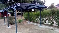 Mon Abri De Jardin Carport En Aluminium Anthracite 3x5