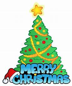 merry christmas sign with tree stock vector image 16922985
