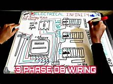 wiring of 3 phase distribution board from energy meter 3 phase db wiring diagram with mcb