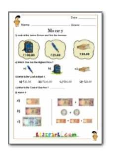 money worksheets for grade 3 india 2538 money worksheet for grade 3 in rupees yahoo india image search results education