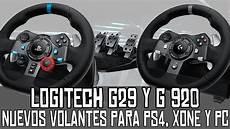 volante pc logitech g29 y g920 nuevos volantes para ps4 xbox one