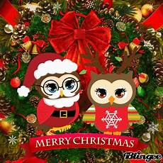 merry christmas owl wreath picture 136169399 blingee com
