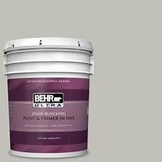 behr ultra 5 gal ppu25 09 foggy london eggshell enamel interior paint and primer in one 275005