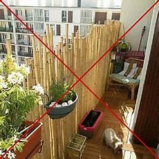 brise vue balcon bambou 106774 les balcons et terrasses r 233 sidence l horizon reims