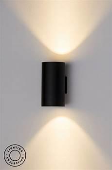 up down exterior pillar wall light black or white in 2020 modern exterior lighting wall