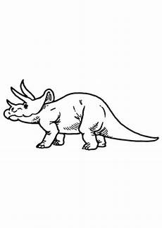 ausmalbilder triceratops seitenansicht dinosaurier