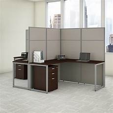 two person home office furniture bush business furniture easy office 60w 2 person l shaped