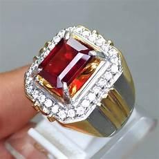 Batu Cincin Permata Merah Garnet Asli Kode 1278
