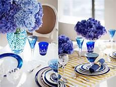 blue table decorations bouquet wedding flower