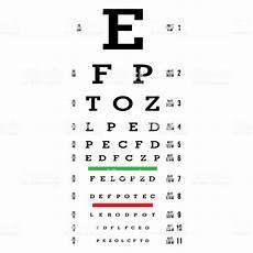 Snellen Eye Examination Chart Eye Test Chart Vector Letters Chart Vision Exam