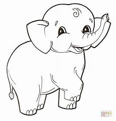 ausmalbild elefant und hase bild