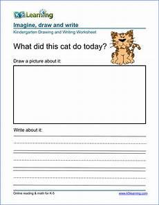 handwriting worksheets k5 21452 drawing and writing worksheet for preschool kindergarten free and printable k5 learning