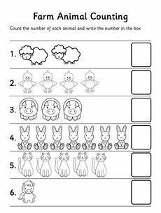 farm animal counting worksheet preschool at home farm