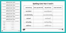spelling worksheets year 3 22538 year 3 and 4 spelling list word writing practice sheets resource pack year