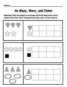 basic worksheets 19294 kindergarten math worksheet identify as many more and fewer by brite ideas