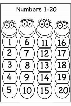 1 20 number chart for preschool numbers preschool