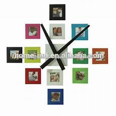horloge murale en m 233 tal avec cadre photo horloges murales