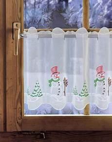 weihnachts scheibengardinen gardinen welt online shop weihnachtsgardine schneemann