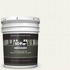 behr premium plus ultra 5 gal ecc 11 2 field gloss enamel exterior paint and primer