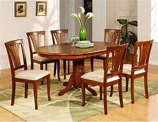 7 pc avon oval dinette kitchen dining room table with 6 chairs in saddle brown ebay