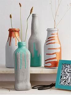 Flaschen Vasen Mit Beton Gestalten