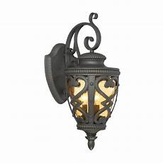 allen and roth lws1176c grandura black iron candelabra base e 12 outdoor wall light vip outlet