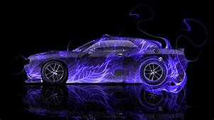 Dodge Challenger Muscle Side Fire Car 2014  El Tony