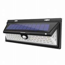 solar led lights outdoor motion sensor light wall 66 leds garden landscape spotlight auto