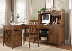liberty hearthstone rustic oak office furniture set the