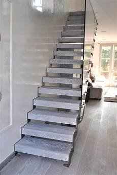 bespoke glass staircase design service straight flight string floating stairs ebay